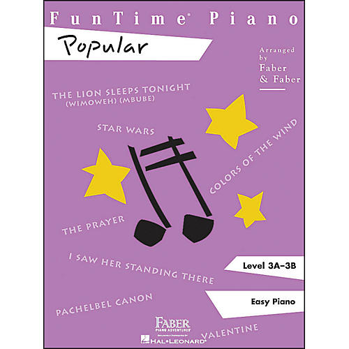 Faber Piano Adventures Funtime Popular Level 3A - 3B Easy Piano thumbnail