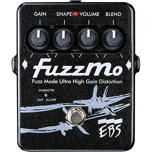 EBS FuzzMo Ultra High Gain Distortion Guitar Effects Pedal thumbnail