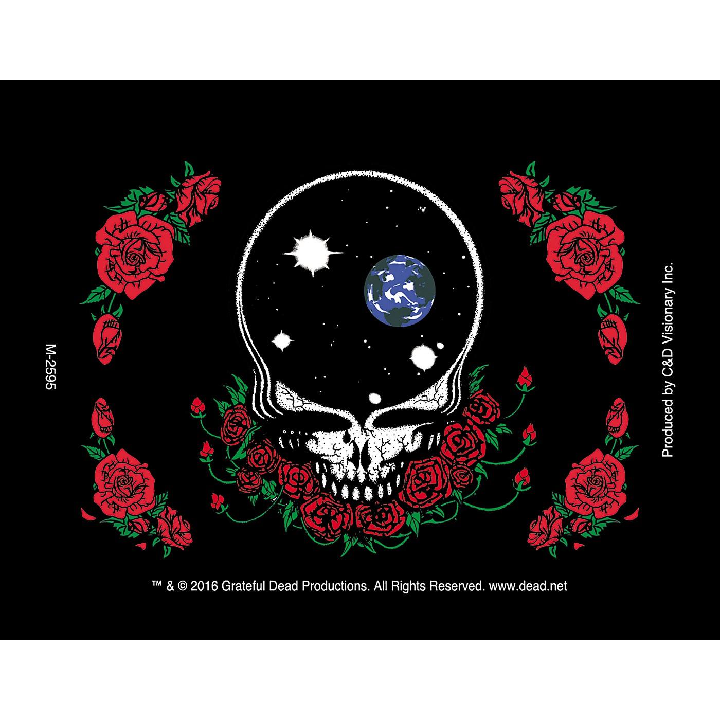 C&D Visionary G. Dead Face & Skull Roses Magnet thumbnail