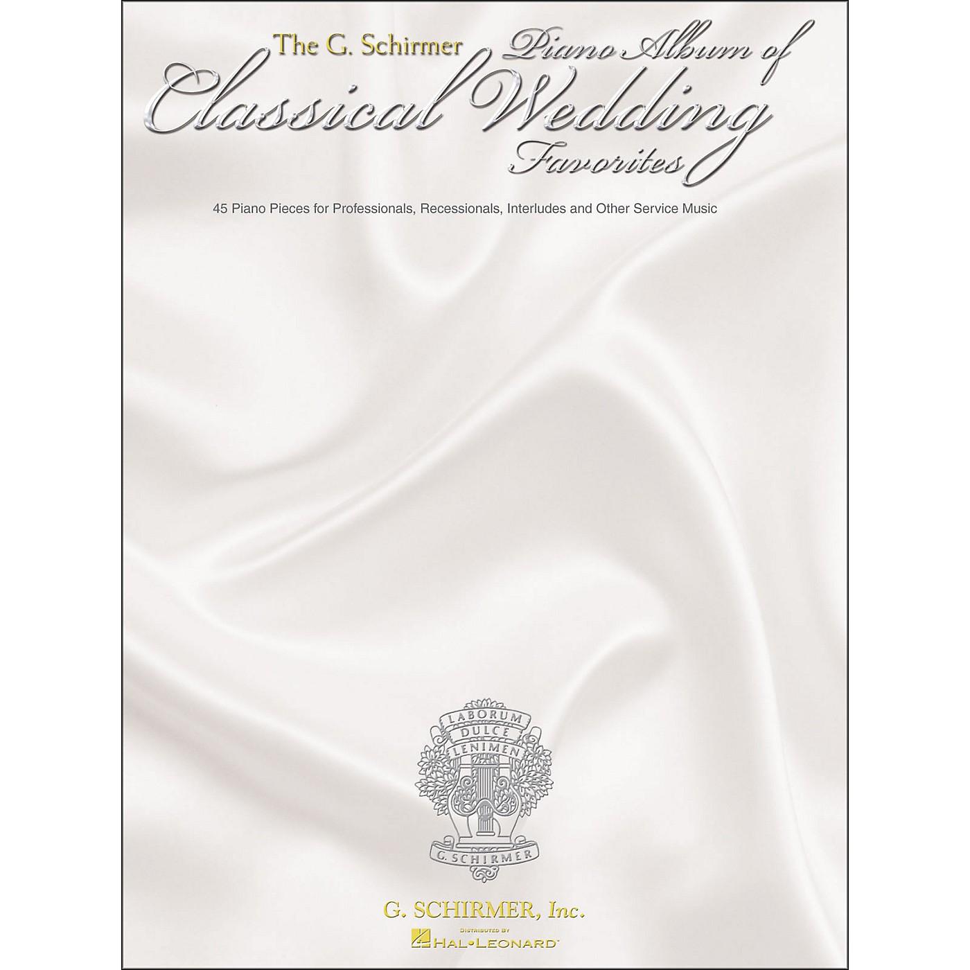 G. Schirmer G. Schirmer Piano Album Of Classical Wedding Favorites thumbnail