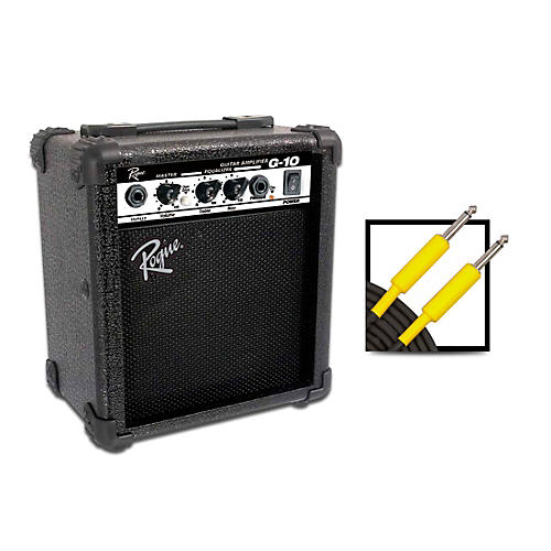 Rogue G10 10W 1x5 Guitar Combo Amp with 20 Foot Instrument Cable thumbnail