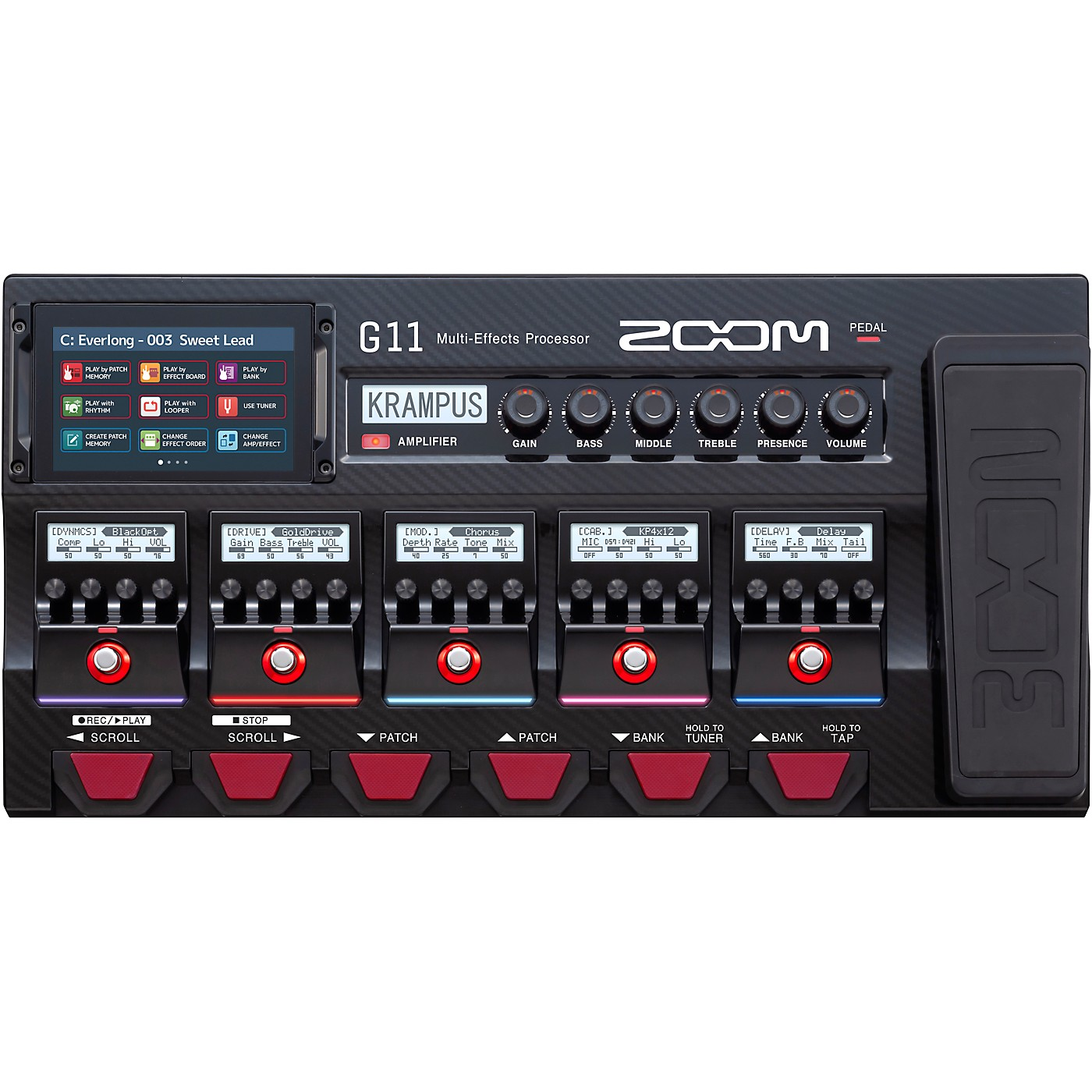Zoom G11 Multi-Effects Processor With Expression Pedal thumbnail