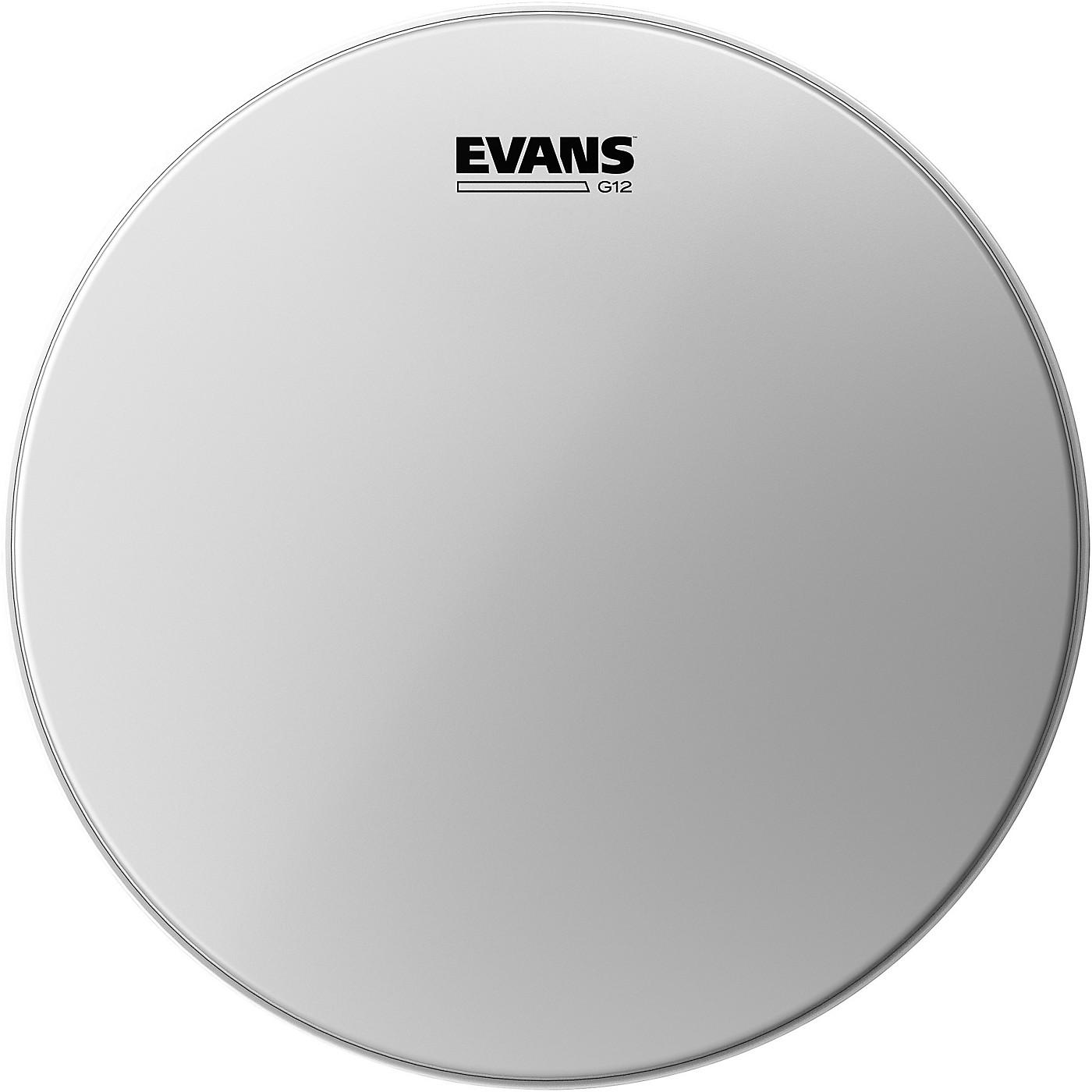 Evans G12 Coated White Batter Drumhead thumbnail