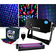 VEI G300 RGB Special Effects Laser with Party Bulb, Strobe and Blacklight Pair Lighting Package