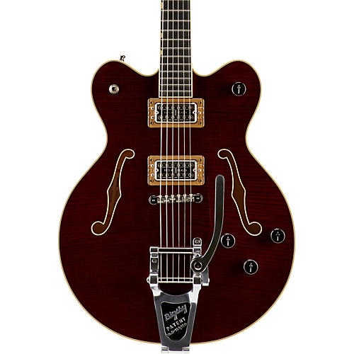 Gretsch Guitars G6609TFM Players Edition Broadkaster Center Block with String-Thru Bigsby and Flame Maple thumbnail