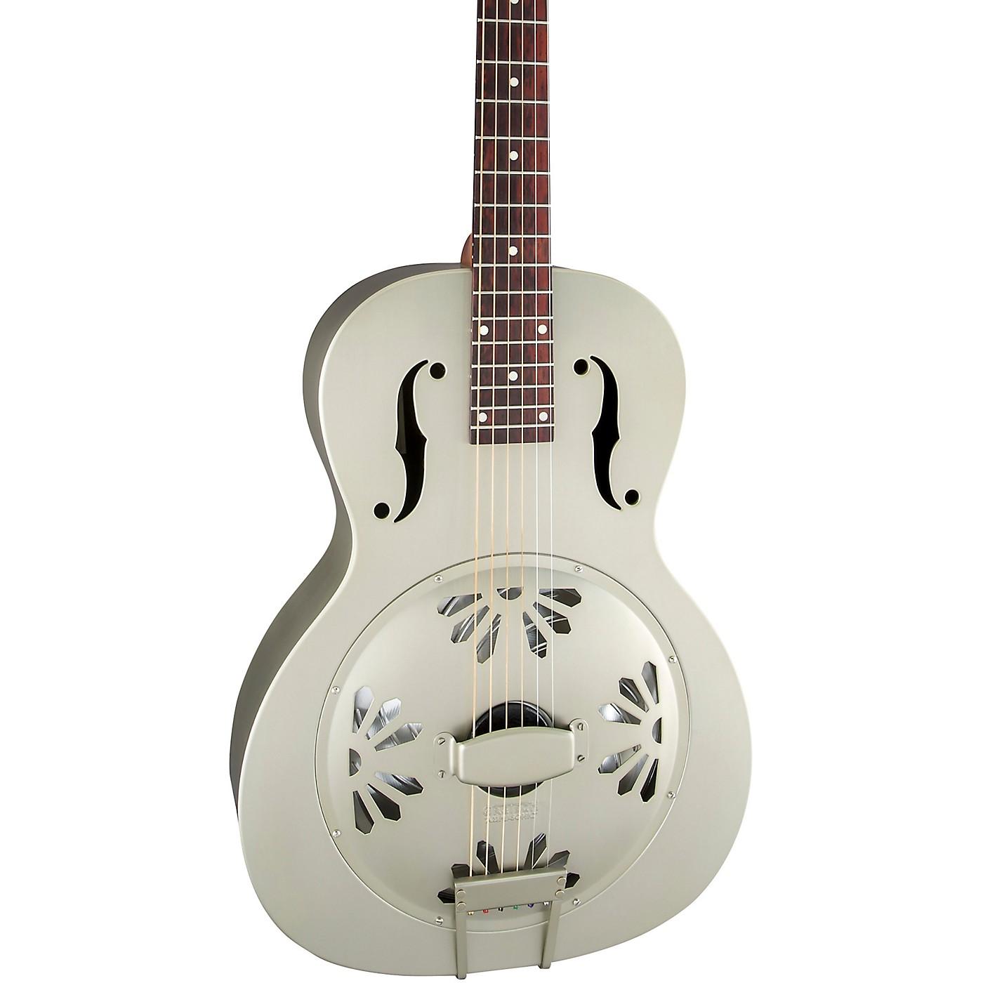 Gretsch Guitars G9201 Honey Dipper Round-Neck, Brass Body Biscuit Cone Resonator Guitar thumbnail