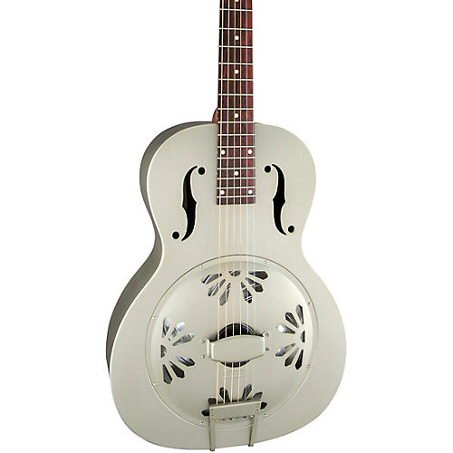 Gretsch Guitars G9201 Honey Dipper Round-Neck, Brass Body Biscuit Cone Resonator Guitar thumbnail