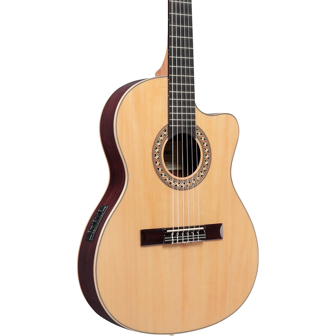Ibanez GA Series GA34STCE Thinline Solid Top Classical Acoustic-Electric Guitar thumbnail
