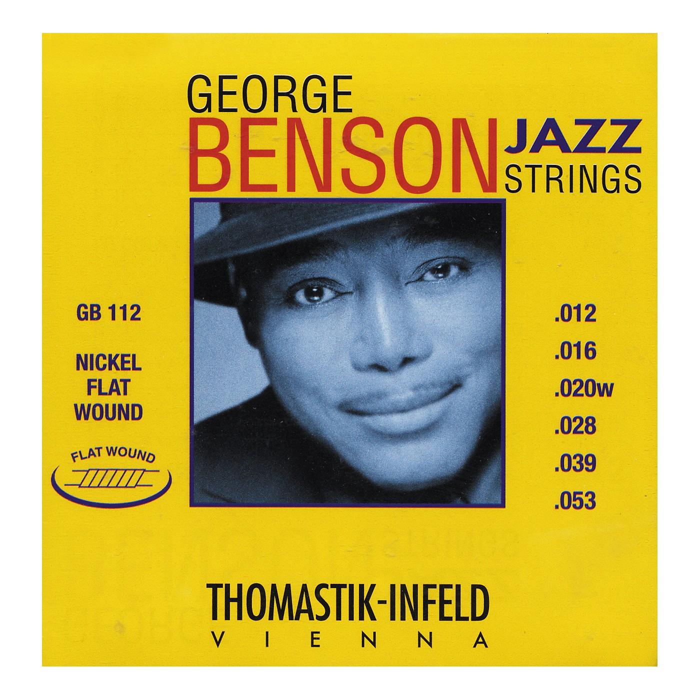 Thomastik GB112 Medium Light George Benson Custom Flatwound Guitar Strings thumbnail
