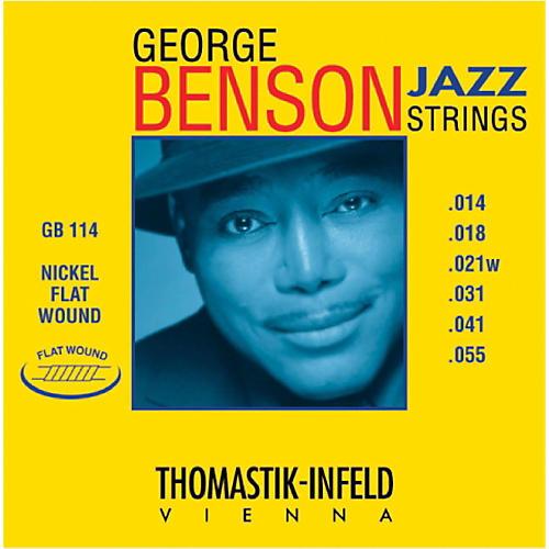 Thomastik GB114 George Benson Custom Heavy Flatwound Jazz Guitar Strings thumbnail