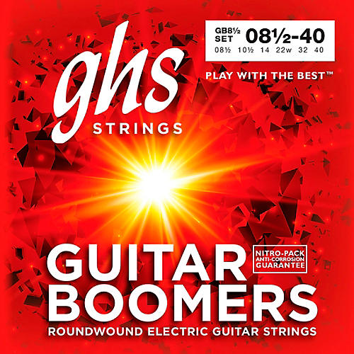 GHS GB8 1/2 Boomers Ultra Light+ Electric Guitar Strings thumbnail