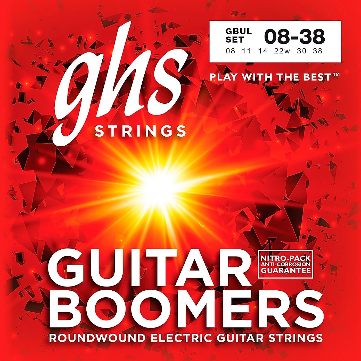 GHS GBUL Boomers Ultra Light Electric Guitar Strings thumbnail