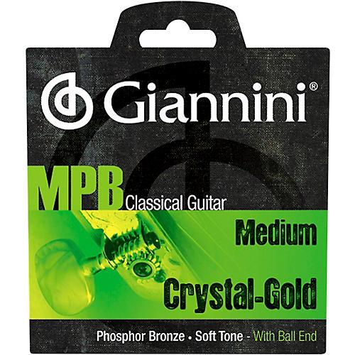 Giannini GENWG Classical Guitar Medium Tension Phosphor Bronze Clear Nylon Ball End Strings thumbnail