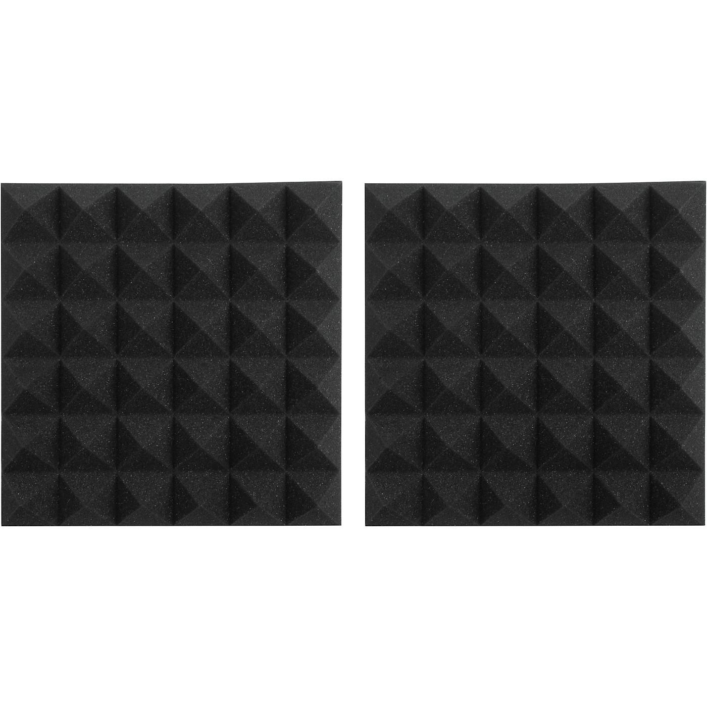 Gator GFW-ACPNL1212P-2PK Pair of 2 Inch - Thick Acoustic Foam Pyramid Panels 12x12 thumbnail