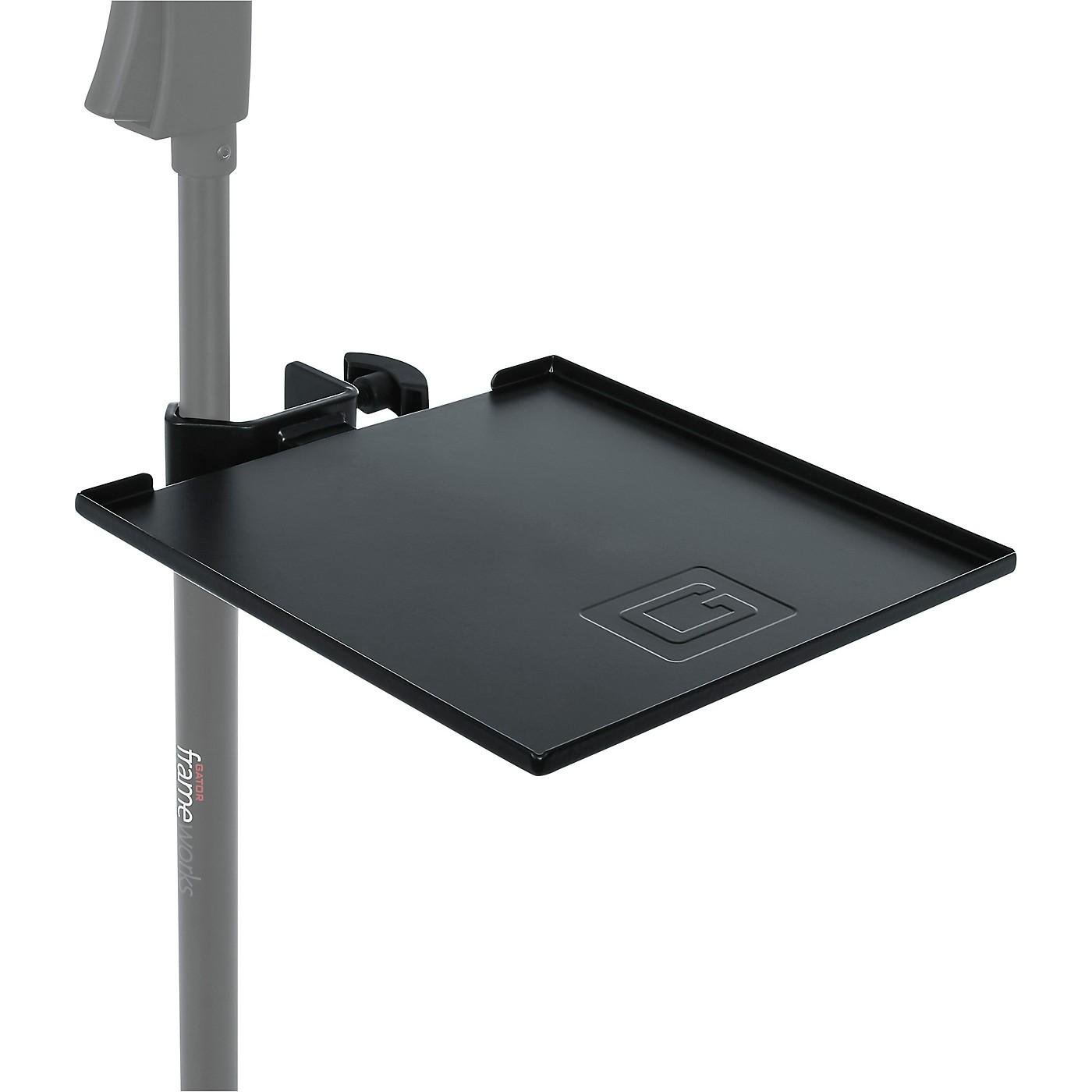 Gator GFW-SHELF0909 Gator Frameworks small microphone stand clamp-on utility shelf, capacity up to 10lbs. thumbnail