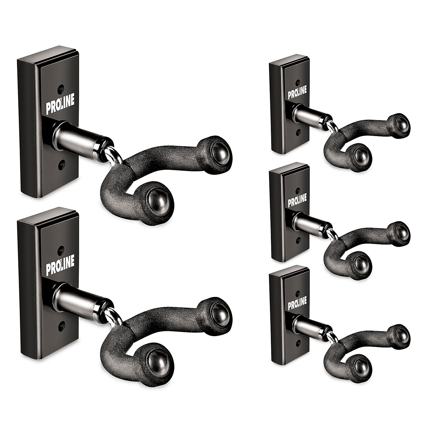 Proline GH1 Guitar Wall Hanger 5-Pack (Black Finish) thumbnail