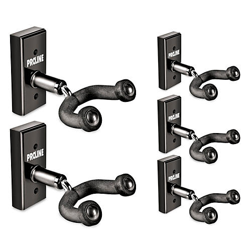 FretRest by Proline GH1 Guitar Wall Hanger 5-Pack (Black Finish) thumbnail
