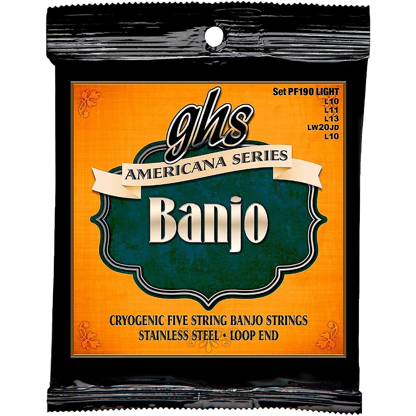 GHS GHS Americana Series Banjo Light Strings (10-LW22JD-10) thumbnail