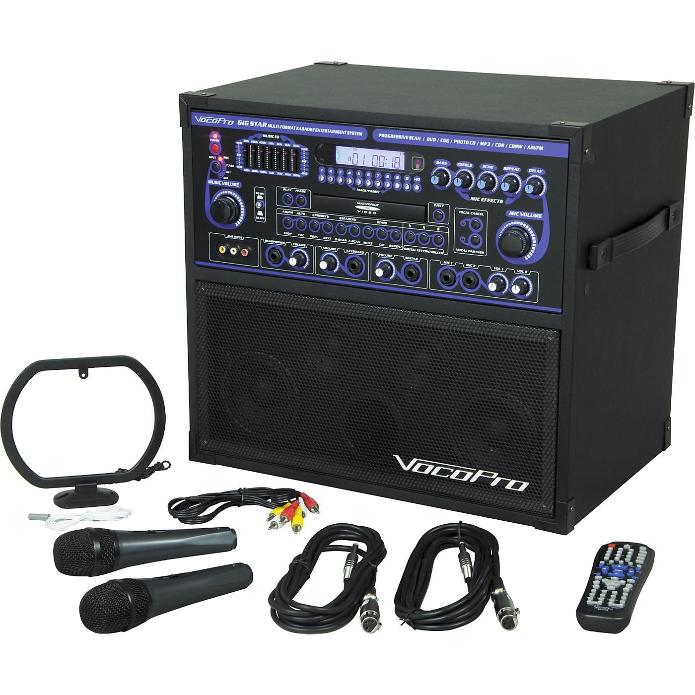 VocoPro GIG-STAR - Professional Karaoke System thumbnail