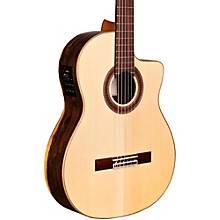 Kremona Left Handed Rosa Luna Flamenco Series Acoustic Electric Cutaway Classica Acoustic Electric Guitars Musical Instruments & Gear