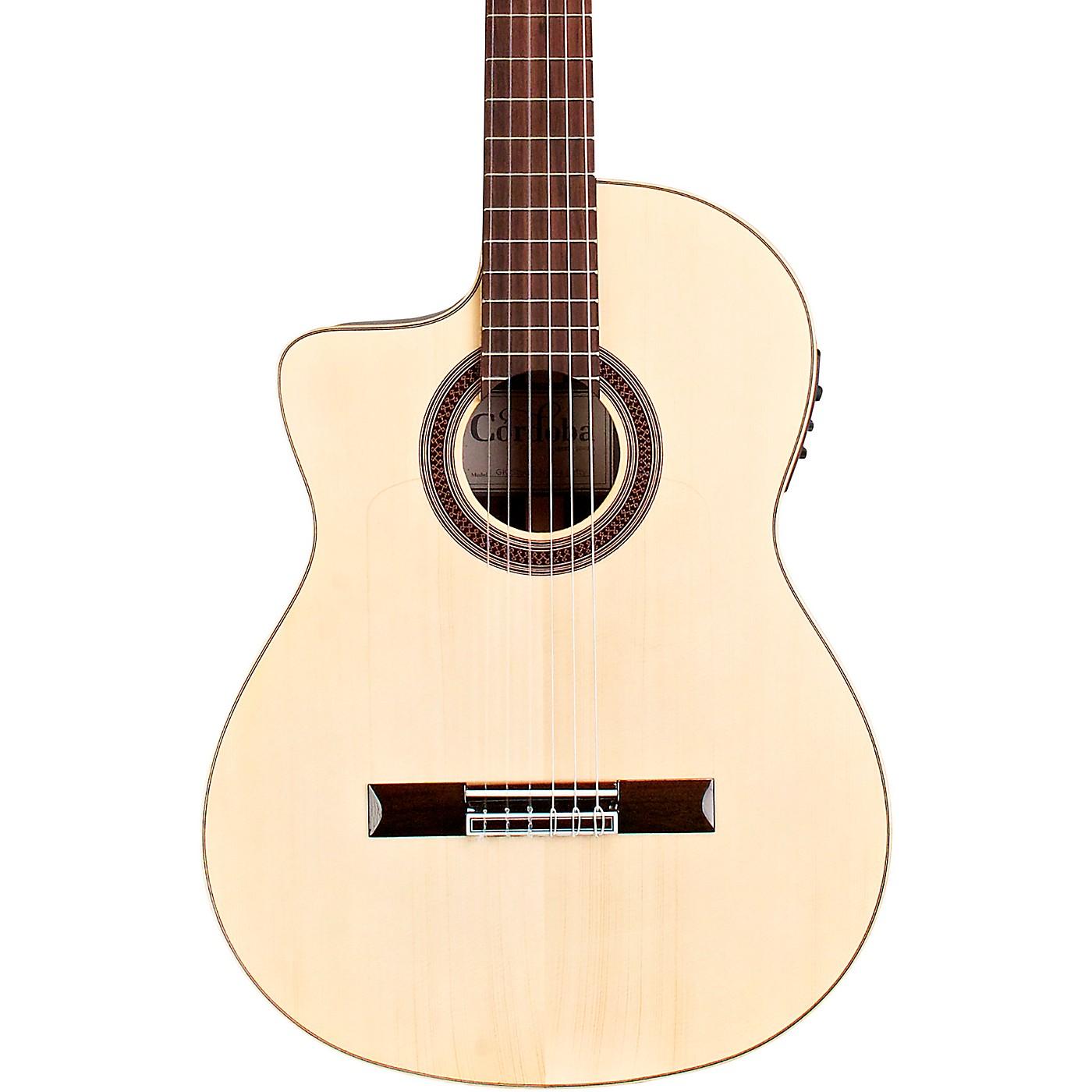 Cordoba GK Studio Negra Left-Handed Flamenco Acoustic-Electric Guitar thumbnail