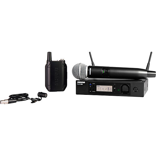 Shure GLXD124R Advanced Wireless System with SM58 Handheld and WL185 Lavalier Combo thumbnail