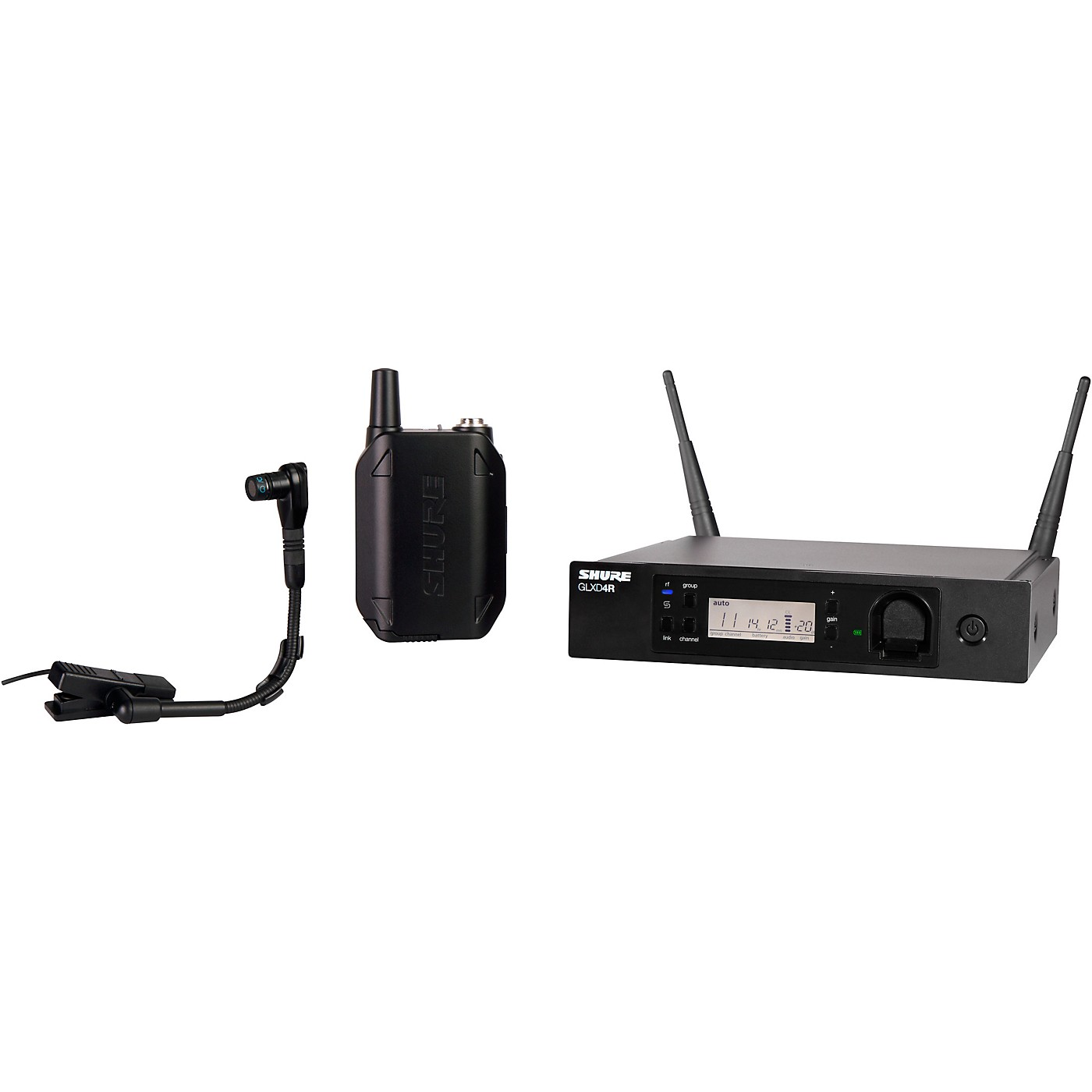 Shure GLXD14R Advanced Wireless System with BETA98H/C Instrument Microphone thumbnail