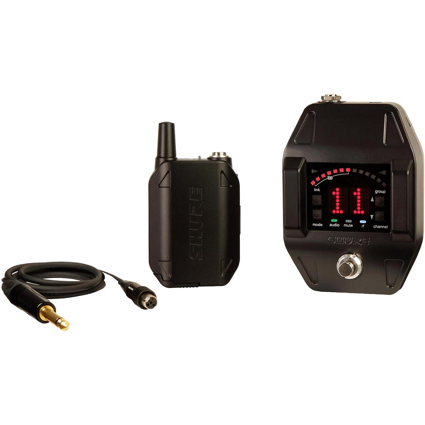 Shure GLXD16 Wireless System with GLXD6 Wireless Guitar Pedal thumbnail