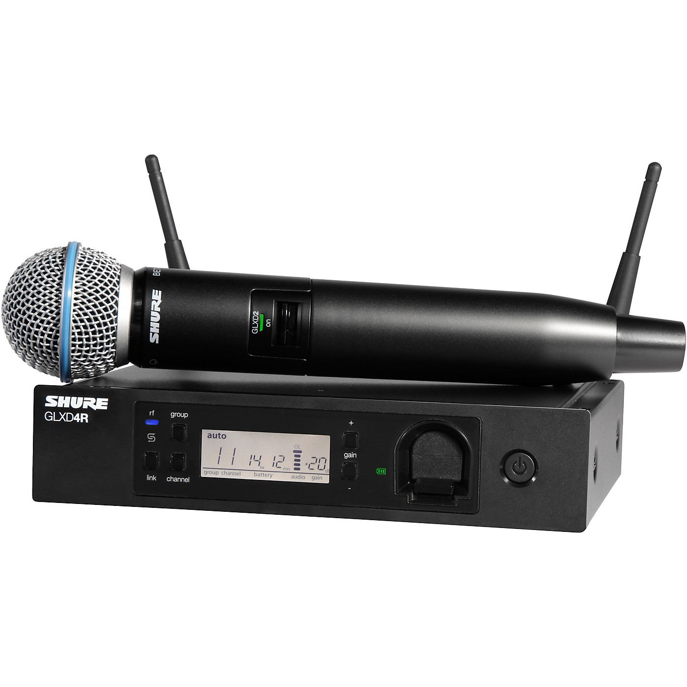 Shure GLXD24R/B58 Advanced Wireless System with BETA58 Microphone thumbnail