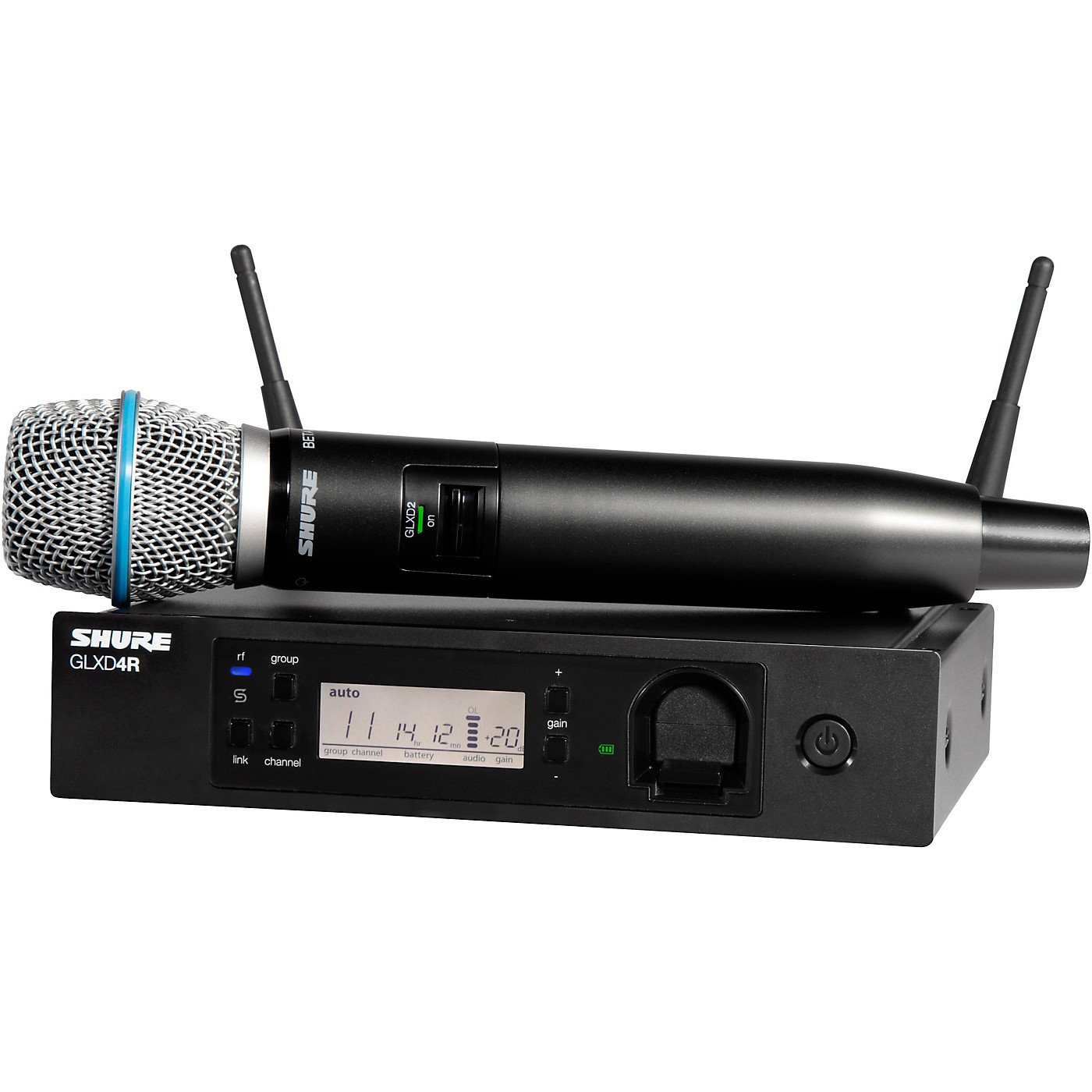 Shure GLXD24R/B87A Advanced Wireless System with BETA87A Microphone thumbnail