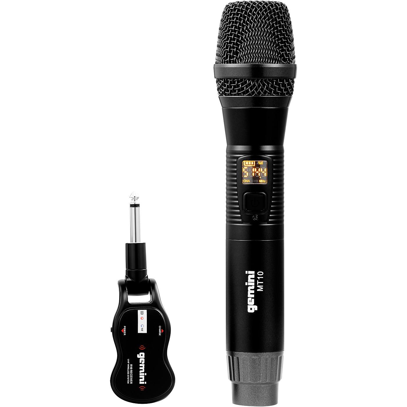 Gemini GMU-M100 Single HandHeld Wireless UHF Microphone System thumbnail
