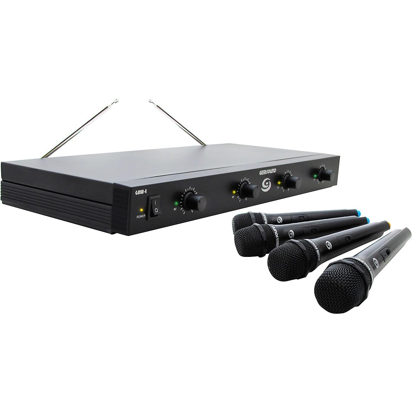 Gem Sound GMW-4 Quad-Channel Wireless Mic System thumbnail