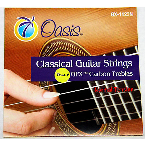 Oasis GPX+ Classical Guitar Carbon Trebles Normal Tension thumbnail