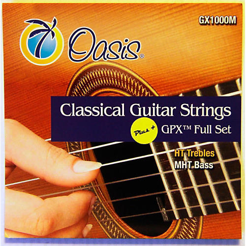 Oasis GPX+ Classical Guitar High Tension GPX Carbon Trebles/Medium Tension Sostenuto Basses thumbnail