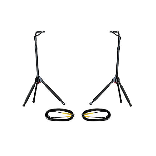 Ultimate Support GS-100 Genesis Single Guitar Stand 2-Pack w/Free Cables thumbnail