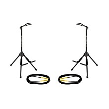 Ultimate Support GS-200 Genesis Single Guitar Stand 2-Pack w/Free Cables