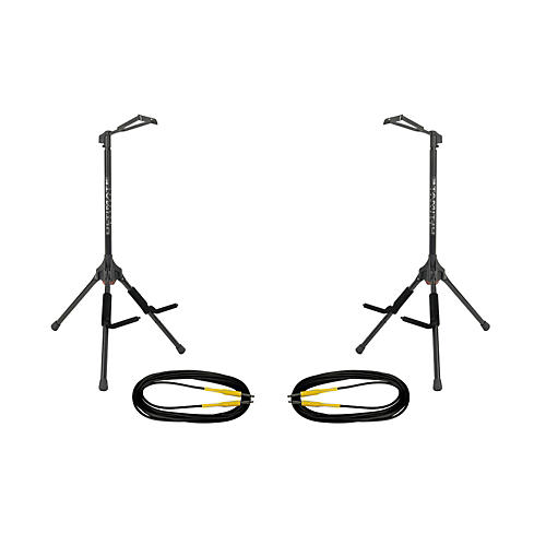 Ultimate Support GS-200 Genesis Single Guitar Stand 2-Pack w/Free Cables thumbnail