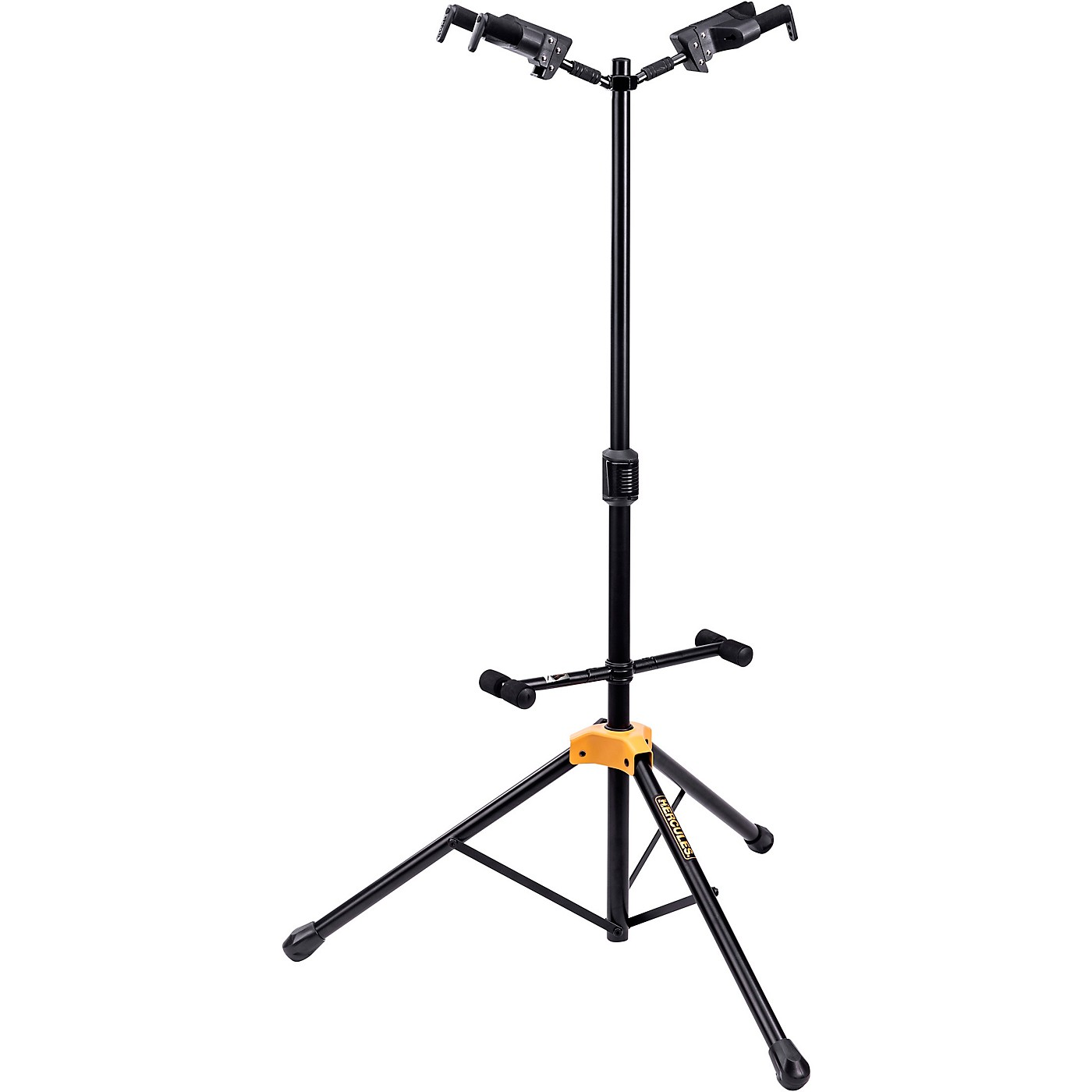 Hercules GS422BPLUS PLUS Series Universal AutoGrip Duo Guitar Stand with Foldable Backrest thumbnail