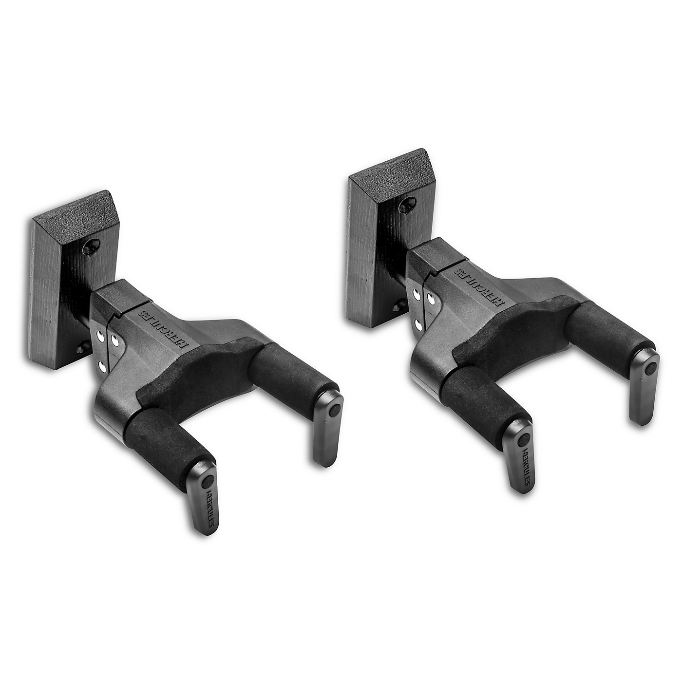Hercules Stands GSP38WBKPLUS PLUS Series Universal AutoGrip Wall Mount Guitar Hanger - Black, 2-Pack thumbnail