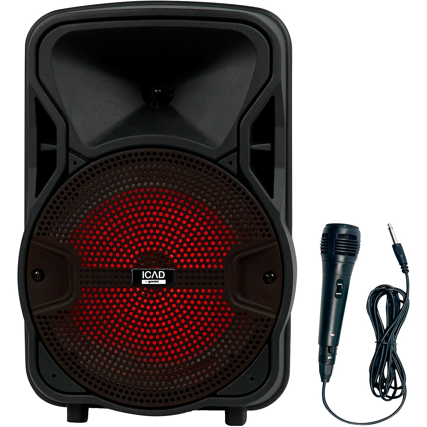 Gemini GSX-L208BTB 500W 8 in. Powered Speaker With Bluetooth, Rechargeable Battery, And Microphone thumbnail