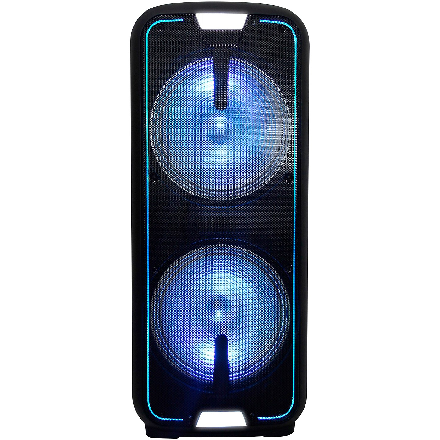 Gemini GSX-L2515BTB Dual 15 in. Dynamic Woofer Rechargeable Speaker with LED Lights And Bluetooth thumbnail