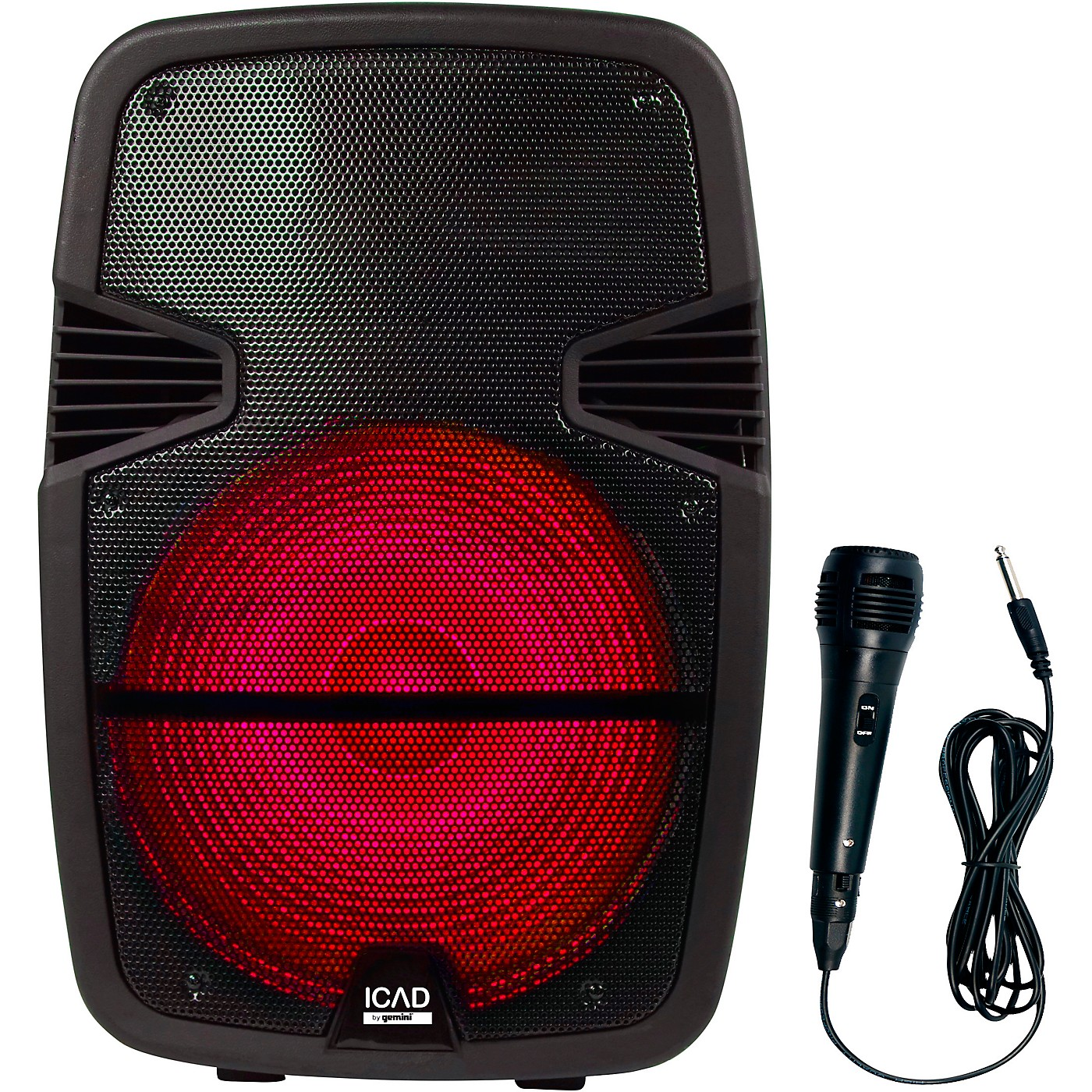 Gemini GSX-L515BTB 1000W 15 in. Powered Speaker With Bluetooth, Rechargeable Battery, And Microphone thumbnail