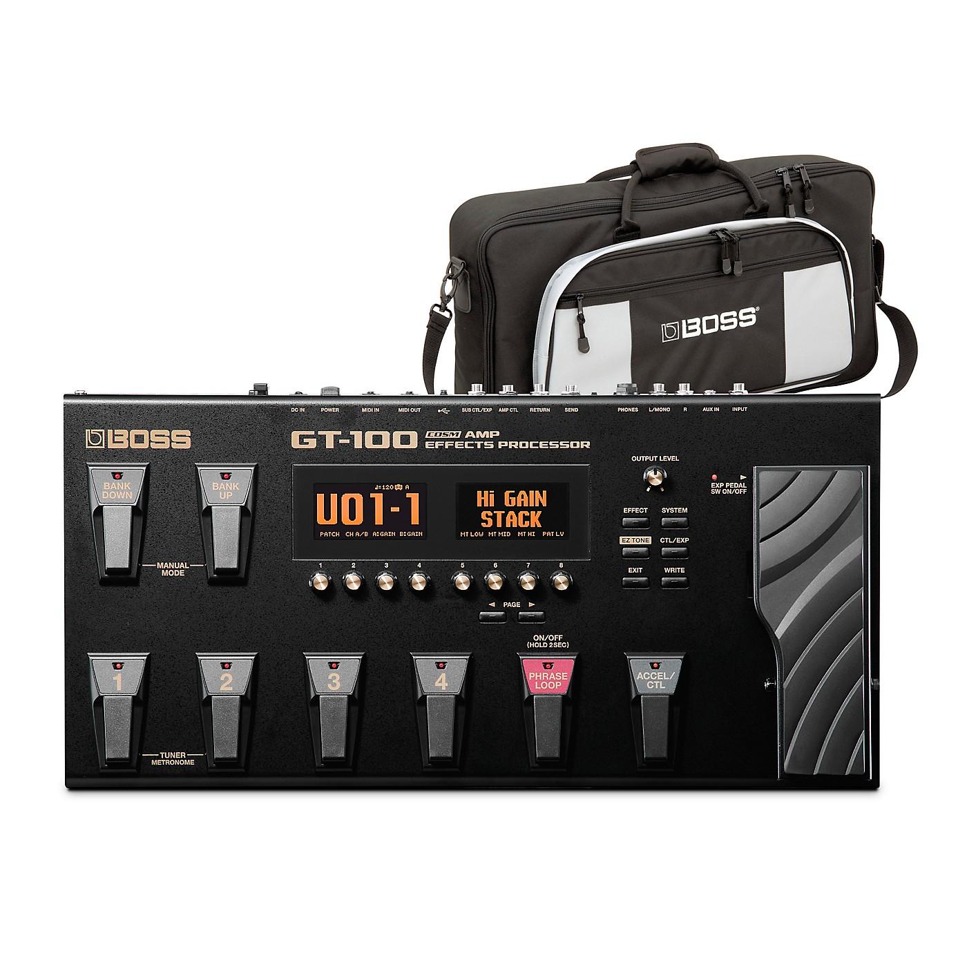 Boss GT-100 Guitar Multi-Effects Pedal and L2 Bag Bundle thumbnail