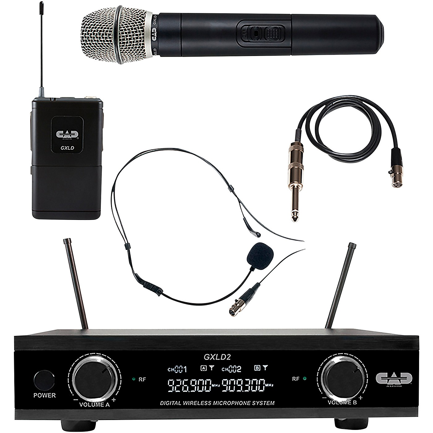 CAD GXLD2HBAH Digital Dual Channel Wireless System handheld and bodypack microphone system thumbnail