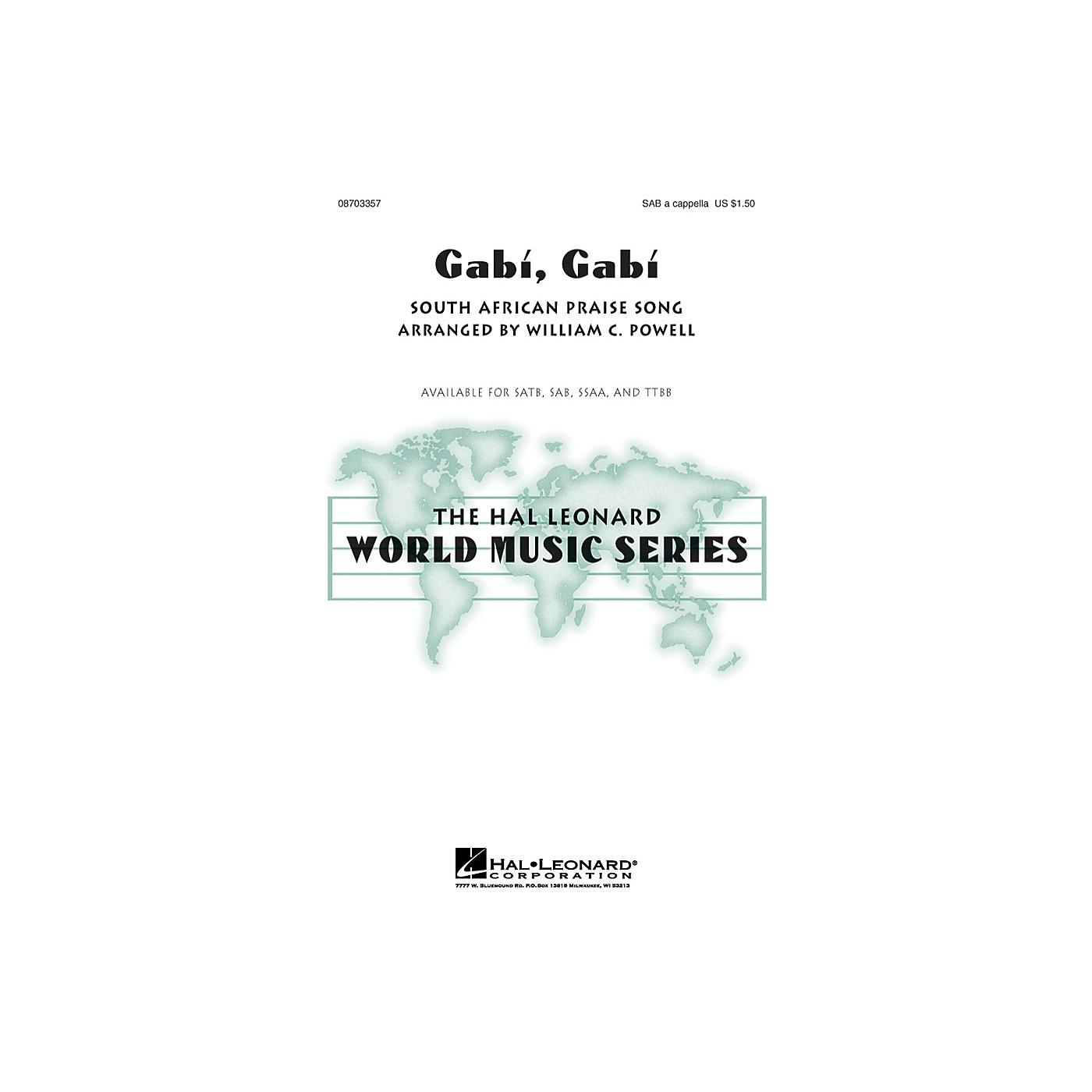 Hal Leonard Gabi, Gabi SAB A Cappella arranged by William Powell thumbnail