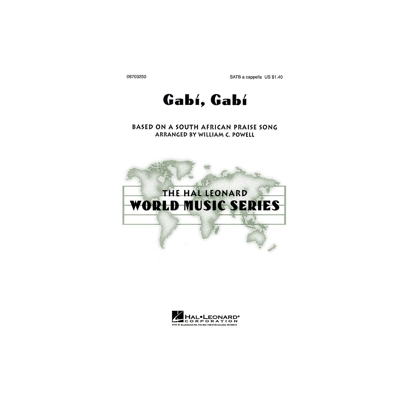 Hal Leonard Gabi, Gabi SATB a cappella arranged by William Powell thumbnail