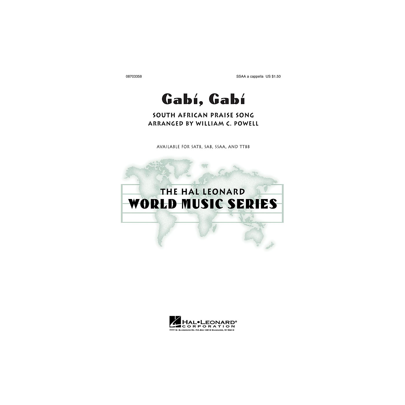 Hal Leonard Gabi, Gabi SSAA A Cappella arranged by William Powell thumbnail