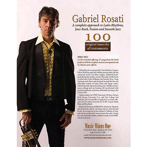 Music Minus One Gabriel Rosati - 100 Original Tunes for All Instruments Music Minus One Softcover with CD by Rosati thumbnail