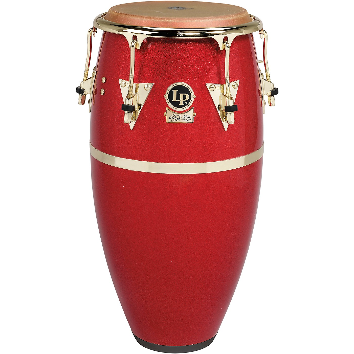 LP Galaxy Fiberglass Fausto Cuevas III Signature Conga, Arena Red with Gold Hardware thumbnail