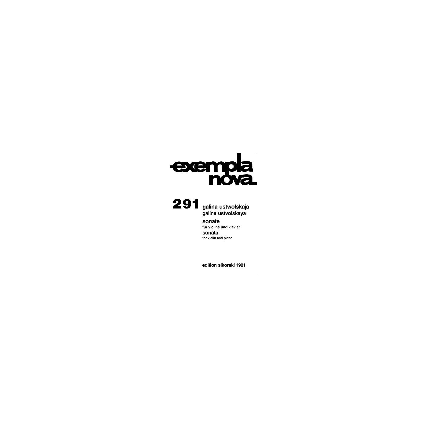 Sikorski Galina Ustvolskaya - Sonata for Violin and Piano String Series Composed by Galina Ustvolskaya thumbnail